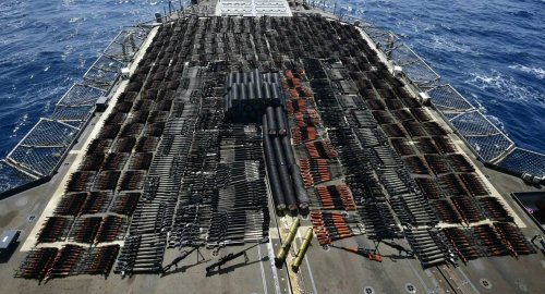 Videos: US warship seizes thousands of Chinese, Russian weapons likely bound for Iran-backed militias