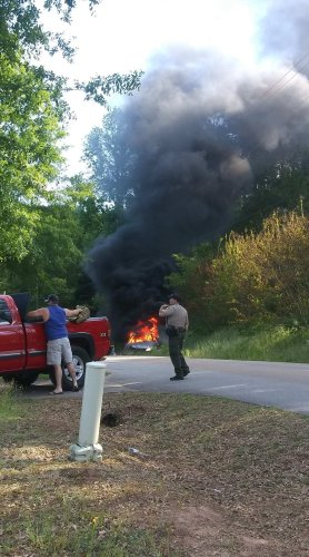 Video: Driver catches fire after hoarded gas in vehicle explodes during chase, SC cops say