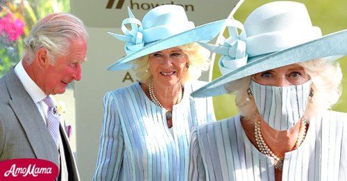 Camilla Is the Epitome of Elegance in Heavenly Blue Dress & Mask on the 1st Day of Royal Ascot