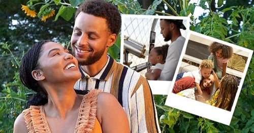 Steph Curry Performs Father Duties in Photos with His 3 Look-Alike Kids during Father's Day