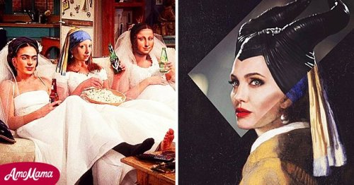 Artist Goes Viral For Combining Paintings by Famous Artists and Popular Culture Elements