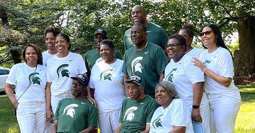Magic Johnson Shows Rare Photos of His Look-Alike Father in His Spartan-Themed 87th B-Day Bash