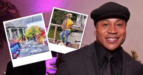 LL Cool J's Wife Stuns in Yellow Blouse, Ripped Jeans & Hat in New Pics with Husband & Friends