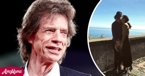 Mick Jagger Cozies Up to Son Deveraux, 4, & Girlfriend Melanie in Rare Intimate Family Pic
