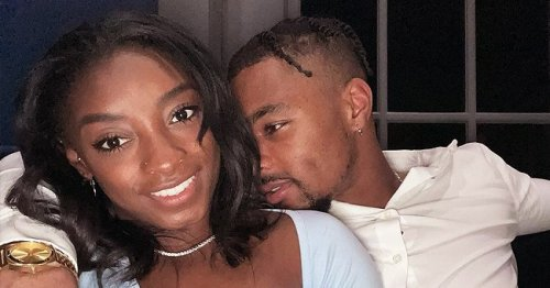 Simone Biles Slays in Peach Outfit While Showing Cute Height Difference with NFL Star BF Jonathan Owens