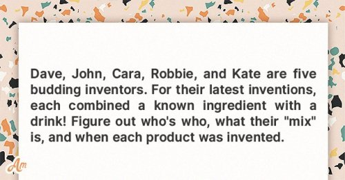 Daily Riddle with an Answer: 5 People Are Budding Inventors