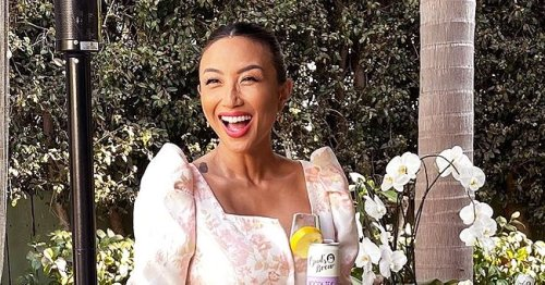 Jeannie Mai of 'The Real' Stuns while Flaunting Slender Legs in Floral Ensemble in Recent Snaps