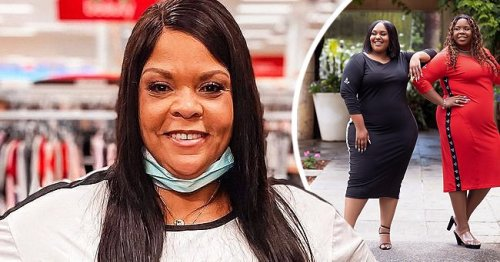 Tamela Mann's Only Daughter Tia Emphasizes Her Curves in Tight Red Dress Showing Wavy Hair