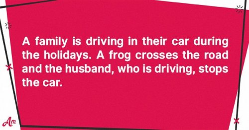Daily Joke: A Family Takes a Drive during the Holidays