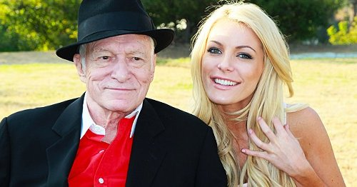 Hugh Hefner's Widow Crystal Shares a Car Selfie Posing in a Green Floral Outfit