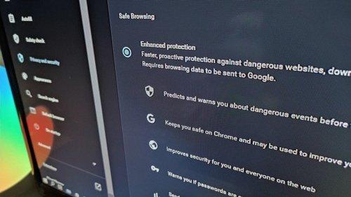 Enable enhanced safe browsing mode in Google Chrome