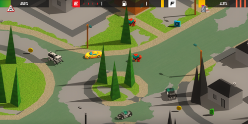 Top-Down Racer Splash Cars Mixes And Matches Concepts From Micro Machines And Splatoon