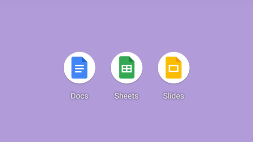 Google 'updates' Docs, Sheets, and Slides app icons by placing them on big white plates