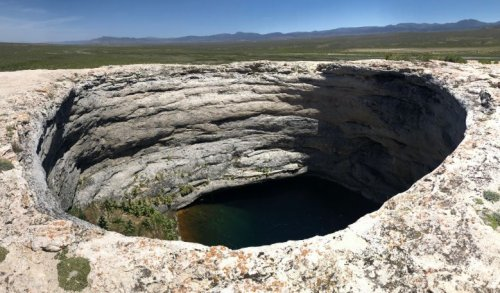 iPhone dropped into Nevada's Devil's Cauldron recorded screaming voices