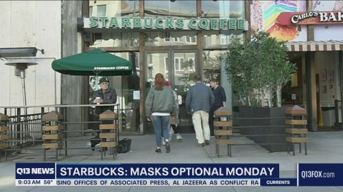 Masks optional for fully vaccinated customers at Starbucks starting Monday