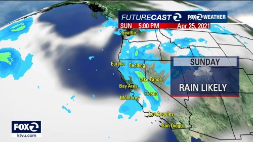Rainfall predicted for Bay Area this weekend