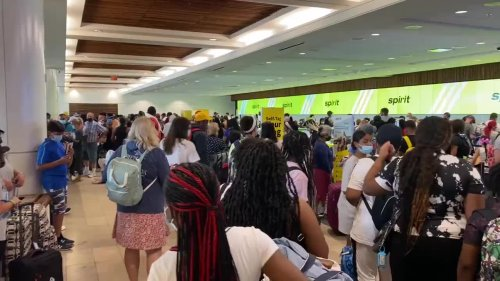 Many stranded at Orlando airport after Spirit Airlines cancels hundreds of flights