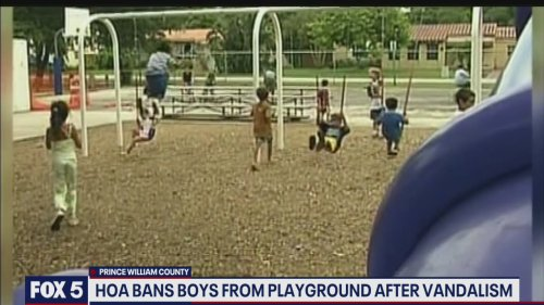 HOA bans boys from playground after vandalism