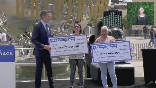 RAW: 10 vaccinated California residents win $1.5 M