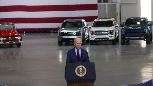 Ford F-150 Lightning takes the stage as Biden details EV plan
