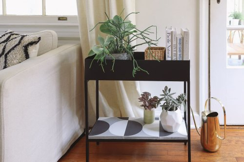 A DIY Tiled Plant Stand Is the Stylish Stage Your Greenery Needs