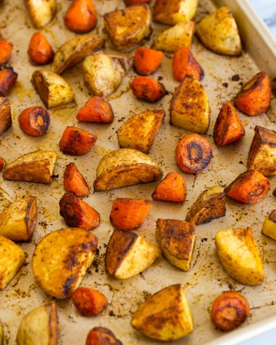 A Homemade BBQ Spice Mix Makes Roasted Potatoes and Carrots Irresistibly Good