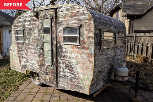 B&A: A Trashed, 62-Square-Foot Vintage Camper's Now Unbelievably Adorable