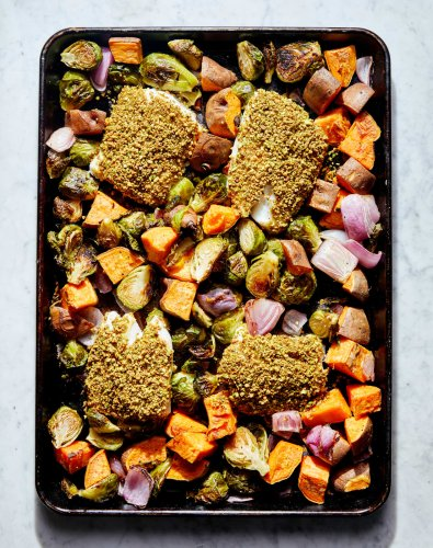 This Fall Sheet Pan Dinner Is Easy, Colorful, and Totally Feel-Good