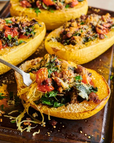 Sausage-Stuffed Spaghetti Squash Is the New Twice-Baked Potato