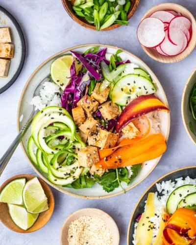 Sesame Ginger Tofu Poke Bowl Will Make You Excited for Lunch