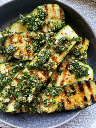 The Key to Perfectly Seasoned Grilled Zucchini Is a Quick Brine