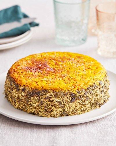 Crispy, Golden Sabzi Polo Is a Celebration of Fresh Herbs