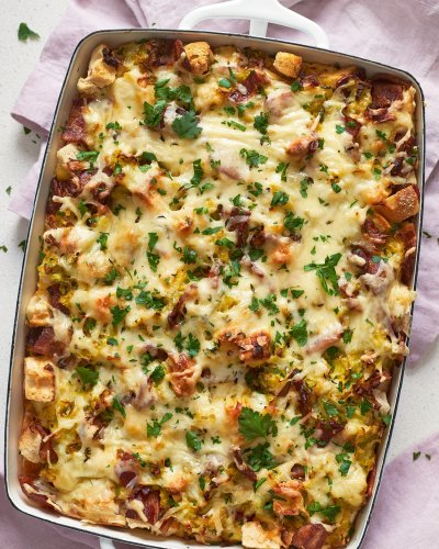 Make-Ahead Bacon & Leek Casserole Does Not Disappoint