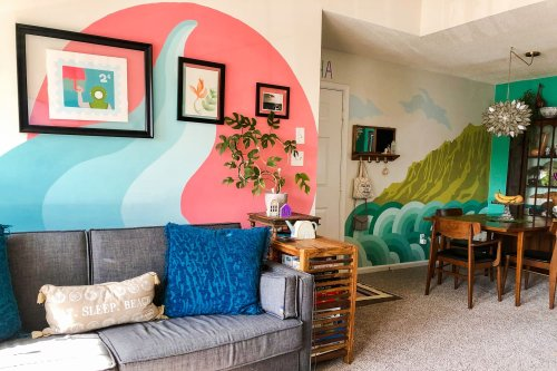 This Small Rental Apartment Is Full of Marvelous DIY Painted Murals