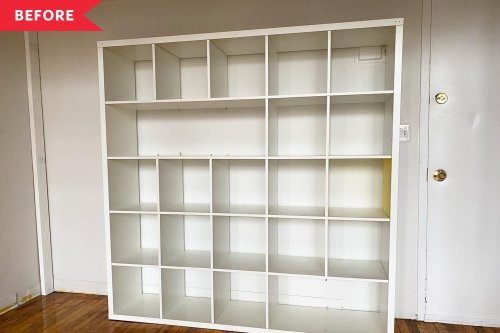 Before and After: A Stylish and Practical DIY Transforms this Drab IKEA KALLAX