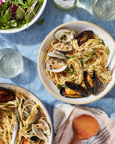 Garlic Butter Seafood Pasta Tastes Luxurious (but Couldn't Be Easier)