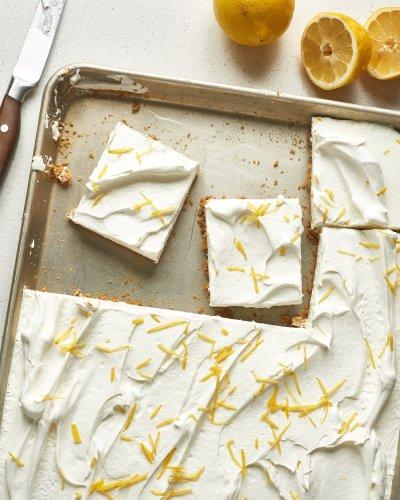 No-Bake Sheet Pan Lemon Yogurt Tart Will Be Your Go-To Dessert of Summer