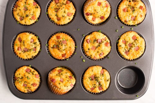 Ham and Cheddar Lunch Box Muffins Are the Best Snack