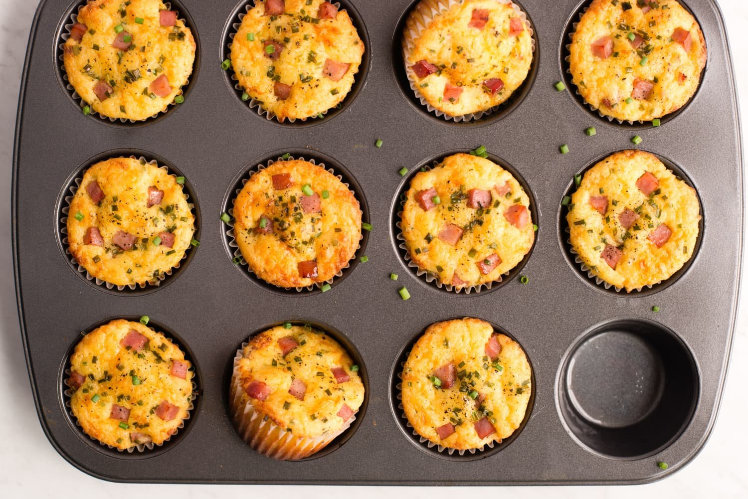 Hearty Ham and Cheddar Lunch Box Muffins Are the Best Lunchtime Pick Me Up