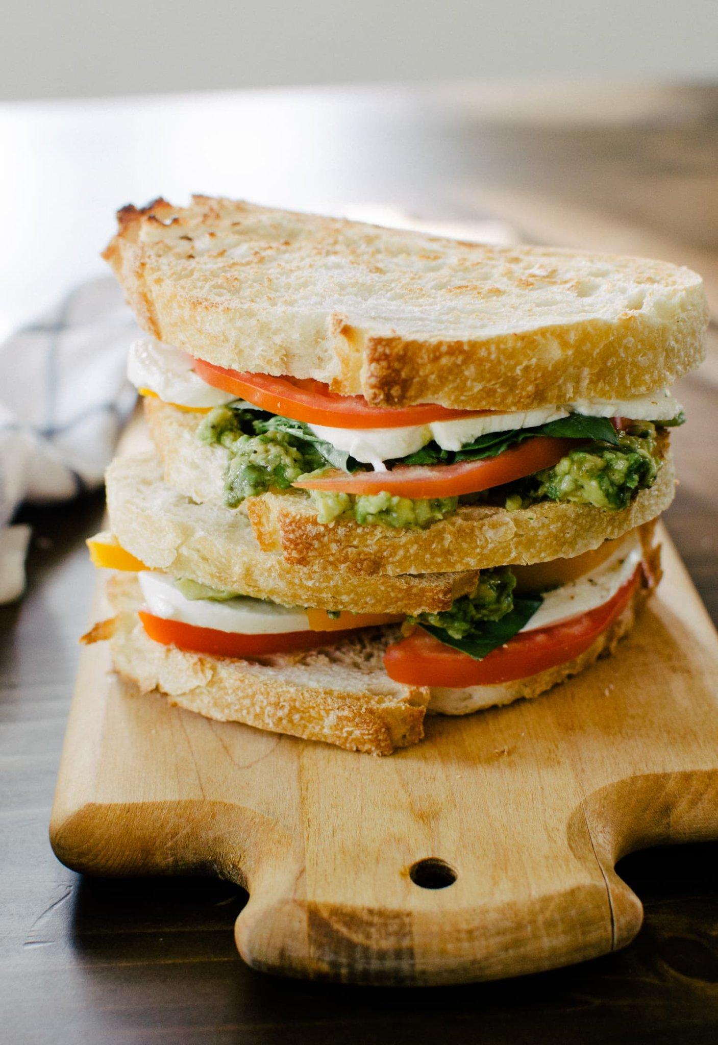This Sandwich Is Avocado Toast Meets Caprese