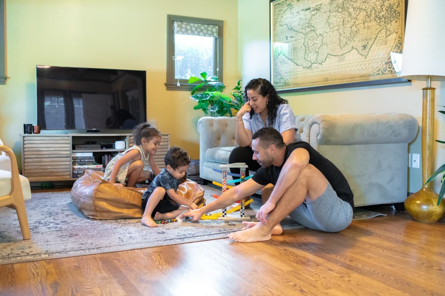 An Epidemiologist and Her Family Made a Temporary Home in a 1,600-Square-Foot Craftsman Bungalow