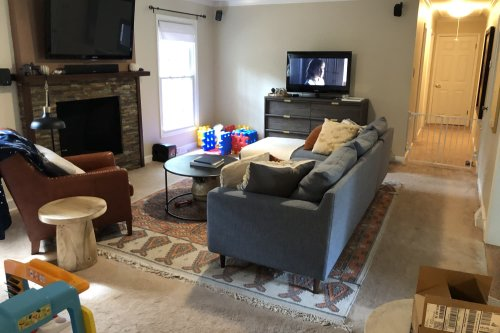 """Before and After: This Living Room Redo Proves """"Cozy"""" Can Still Be Sophisticated"""