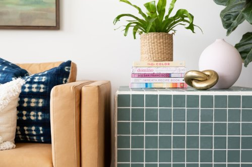 This DIY Tiled Side Table Looks Like a Designer Piece — But You Can Make it in a Weekend