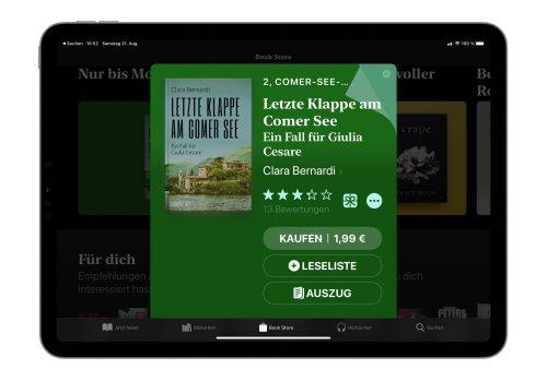 """E-Book der Woche: """"Letzte Klappe am Comer See"""" für 1,99€"""