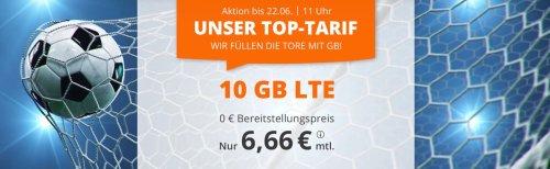 Tarifdeal zum Wochenende: 10 GB für 6,66€ pro Monat