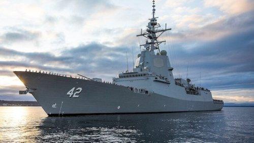 Dead whales found under Aus navy ship
