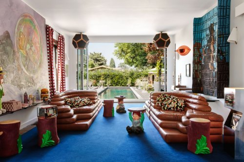 Inside an Eclectic Los Angeles Wonderland Home designed by AD100 Firm Charlap Hyman & Herrero