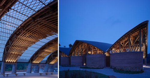 Sup Atelier's Tea Leaf Market Dazzles With the World's Largest Raw Bamboo Span