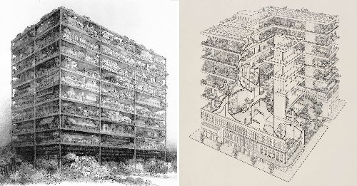 How James Wines' Drawings Changed Architecture - Architizer Journal