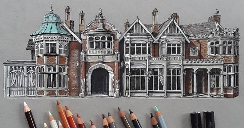 Demi Lang's Stunning Sketches Highlight the Beauty of Traditional Architecture - Architizer Journal